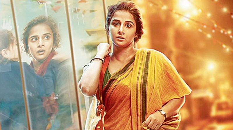 Vidya in a still from the film.