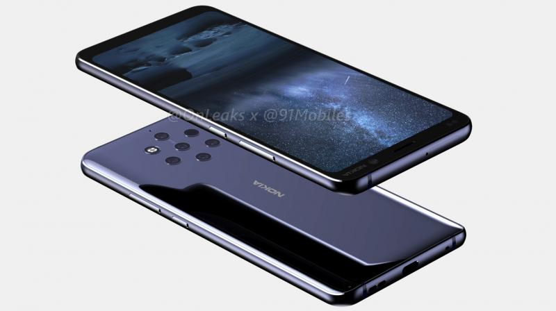 The Nokia 9 comes with seven rings on the rear. (Photo: 91mobiles)