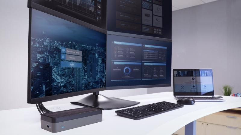The DOCK520USZ gives call centres, investment firms, design agencies, and IT departments the ability to connect a laptop to up to four monitors via (4) HDMI video out ports.