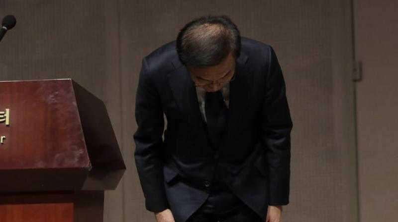 The standoff began in 2007 when taxi driver Hwang Sang-gi refused to accept a settlement after his 23-year-old daughter died of leukemia after working at a Samsung factory. (Photo: AP)