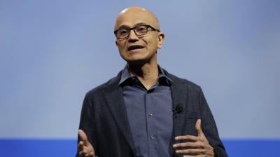 Microsoft's India-born Chief Executive Officer Satya Nadella.