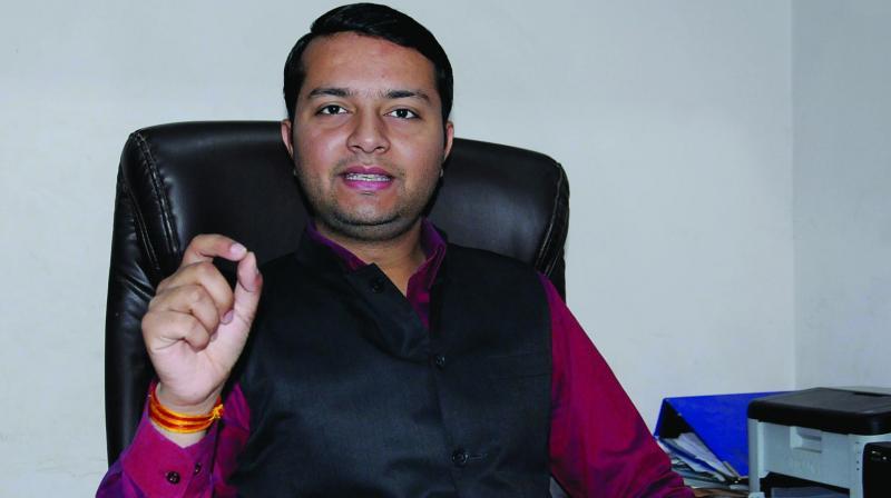 ABVP national media convenor Saket Bahuguna(Photo: G.N. JHA)