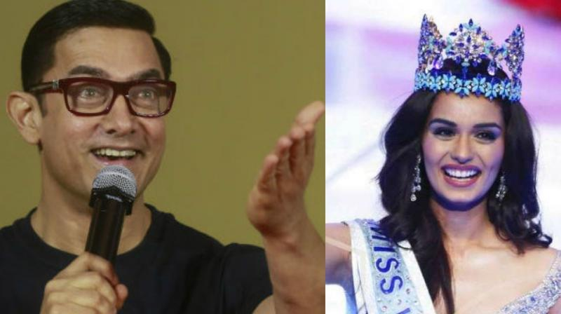 Like Aamir Khan's chemistry with ex-Miss India Juhi Chawla, his pairing with Manushi Chhillar could be interesting if it ever happens.