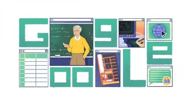 Google Doodle pays tribute to computer scientist Michael Dertouzos. (Photo: Google Doodle)
