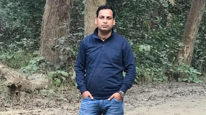 Police said Vivek Tiwari, who was in his car with his former colleague Sana Khan, on seeing police tried to flee and rammed his car against a wall. (Photo: Facebook Screengrab | vivek.tiwari)