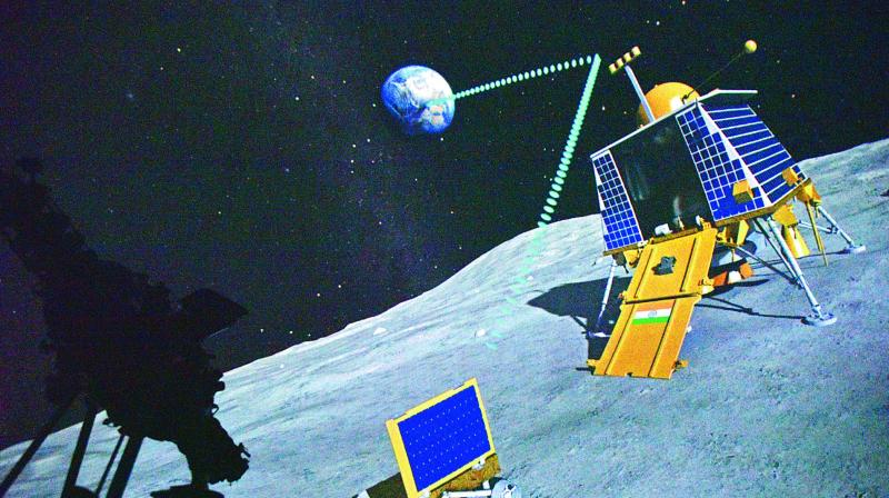 Pictures from the Chandrayaan-2 show a successful landing for the rover. (Photo: S. Surender Reddy)
