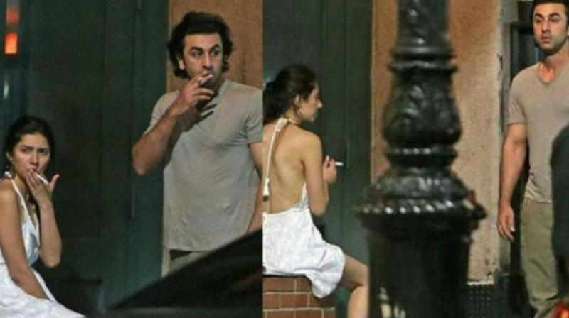 Mahira Khan and Ranbir Kapoor snapped in New York few months ago.