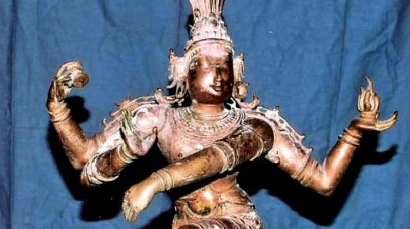 The idol theft wing of state police arrested R. Paramadurai (42) of Tirunelveli district, on Saturday here in Chennai.