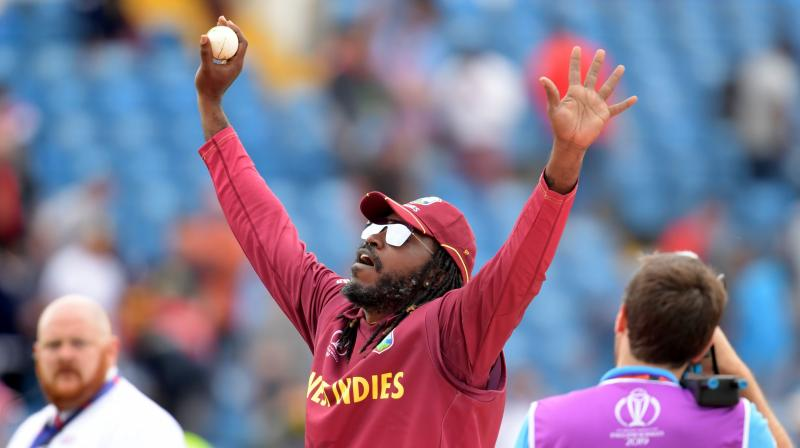 International Cricket Council (ICC) in a tweet gave a hint that this match was probably Gayle's last ODI appearance. (Photo: AFP)