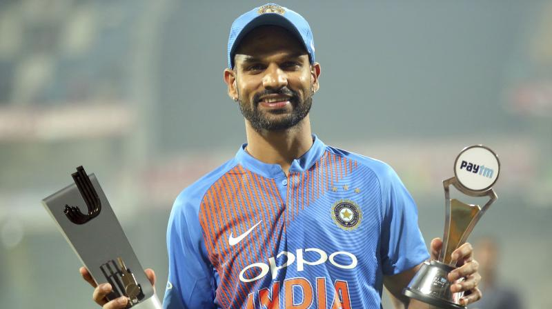 Shikhar Dhawan smashed 92 as India completed a six-wicket Twenty20 international win on the last ball against West Indies on Sunday to sweep the three-match series in Chennai. (Photo: AP)