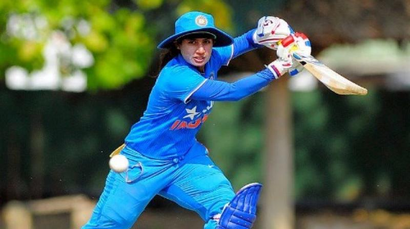 Veteran Mithali Raj anchored the Indian run chase with a 47-ball 56 which she made with the help of seven fours in the Group B match against Pakistan. (Photo: AFP)
