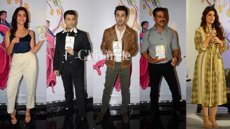 Alia Bhatt, Karan Johar, Ranbir Kapoor and husband Akshay Kumar were present to support Twinkle Khanna at the launch of her second book. (Photo: Viral Bhayani)