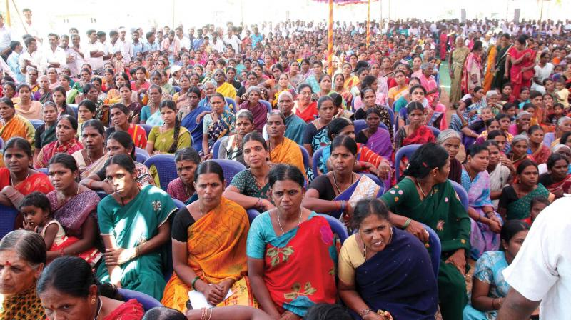 A women's rally organised by BJP in Gundlupet on Friday in which more than 1200 women took part