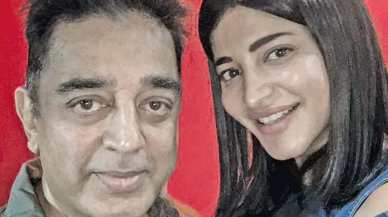 Shruti with dad at the spl show