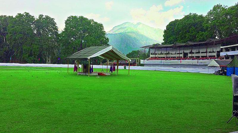 With heightened security measures in place all over Kashmir Valley, the entry points to the stadium have been sealed.