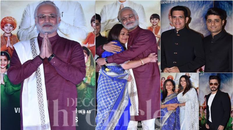 On the occasion of Holi, makers launched a trailer of Vivek Oberoi starring in and as PM Narendra Modi. The grand trailer launch witness the presence of cast members like Zarina Wahab, Barkha Bisht Sengupta, Darshan Kumaar, Manoj Joshi and others. (Photos: Viral Bhayani)