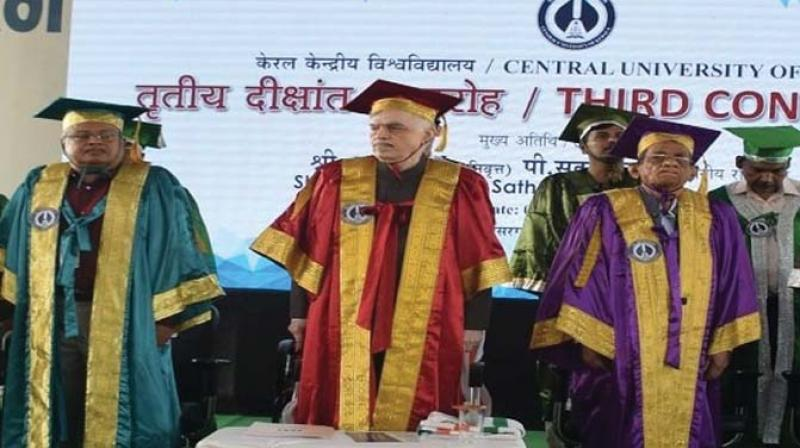 Academic autonomy is to be celebrated every moment in a university and should not be out there to showcase before the larger public on specific occasions. Above: File photo of a convocation ceremony at the central university of Kerala. Picture courtesy: CUK