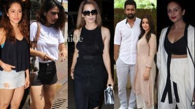 Bollywood celebrities were 'papped' by the paparazzi as they set out for various reasons on Tuesday. (Photo: Viral Bhayani)
