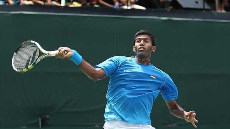 India's Rohan Bopanna and his partner Denis Shapovalov crashed out of the ATP Montreal Masters. (Photo: AFP)