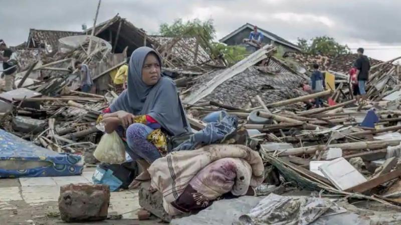 The tsunami that hit the coasts of Indonesian islands along the Sunda Strait was not big but it was destructive. The waves smashed onto beaches in the darkness Saturday night without warning, ripping houses and hotels from their foundations in seconds and sweeping terrified concertgoers into the sea. (Photo: AP)