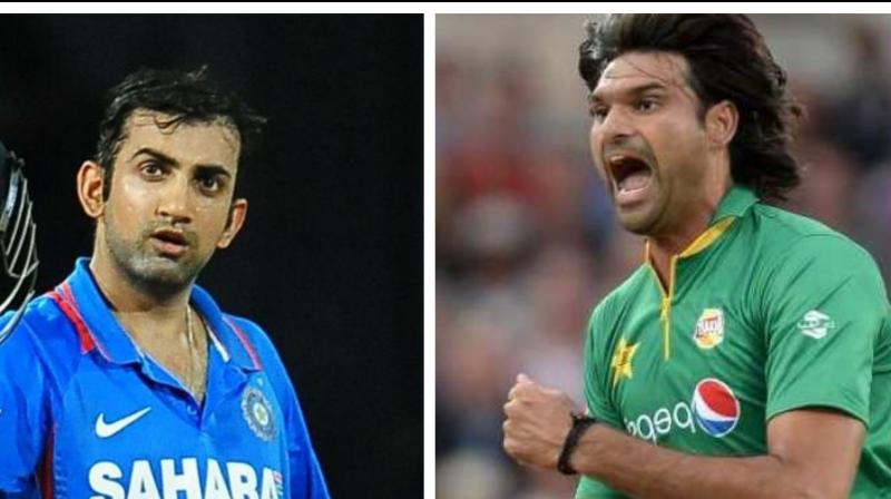 Pakistan's out-of-favour left-arm pacer Muhammad Irfan has recalled how Gautam Gambhir's distinct discomfort while facing him during the 2012 bilateral series literally finished the Indian opener's white-ball career. (Photo:AFP)