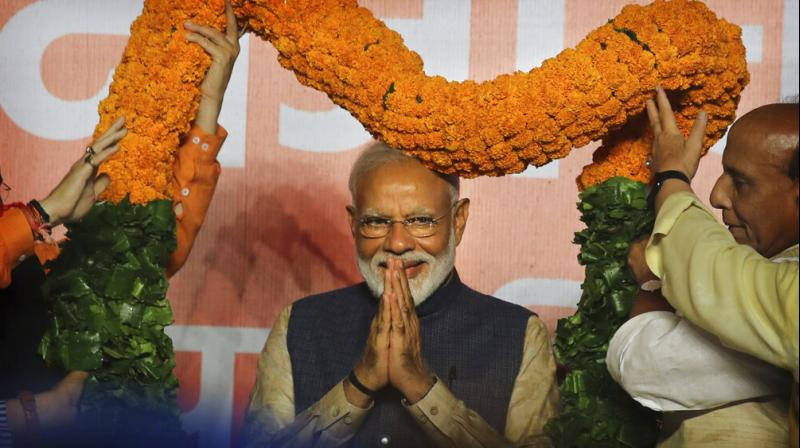The Prime Minister asserted that his party-led government would further accelerate work for the betterment of Andhra Pradesh and Tamil Nadu people though the BJP could not win Lok Sabha polls in these two States. (Photo: File)