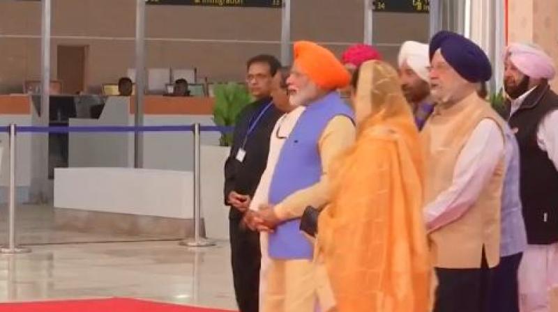 Ahead of the 550th birth anniversary of Guru Nanak Dev, Prime Minister Narendra Modi on Saturday will inaugurate a 4.5 kilometre-long Kartarpur Corridor. (Photo: Twitter/ANI)