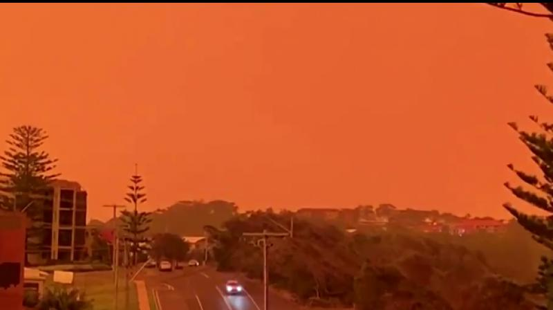 """Residents across a wide swath of Australia's east coast were bracing for """"catastrophic"""" conditions on Tuesday, with searing heat and high winds expected to fan scores of already burning bushfires, threatening residential areas. (Photo: screenshot)"""