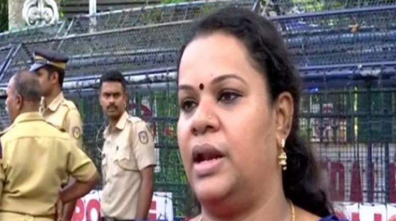 "Hailing the Supreme Court's verdict on Sabarimala, BJP state district secretary Anjana on Sunday warned women's rights activist Trupti Desai over her upcoming visit to the temple and said she cannot even imagine that ""what all things can happen"". (Photo: ANI)"