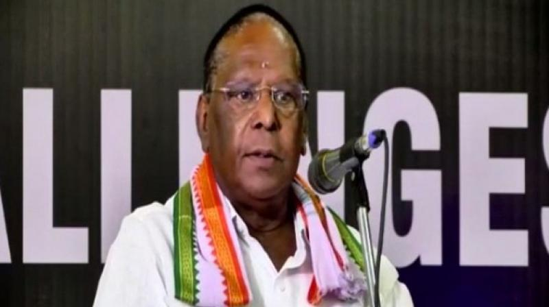 Puducherry is facing problems because of its unique position of being a Union Territory with a legislature, said Chief Minister V Narayanasamy, urging the Centre to find a solution soon. (Photo: ANI)