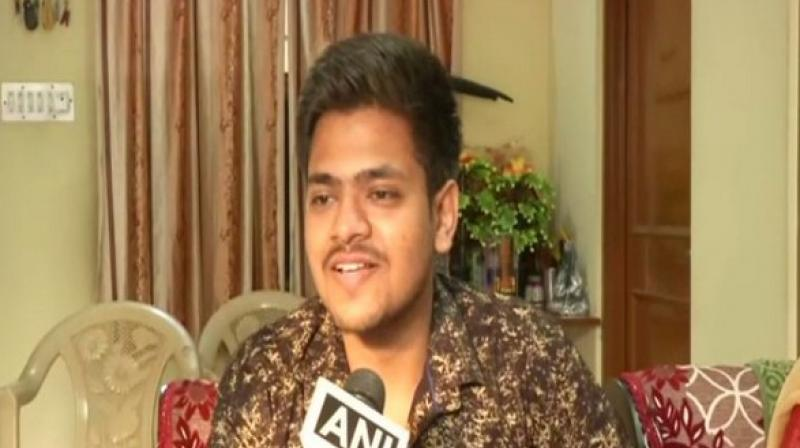 Jaipur boy Mayank Pratap Singh, has made history by cracking the Rajasthan judicial services 2018 exam at just 21 years of age, which has set him on the path of becoming the youngest judge in the country. (Photo: ANI)