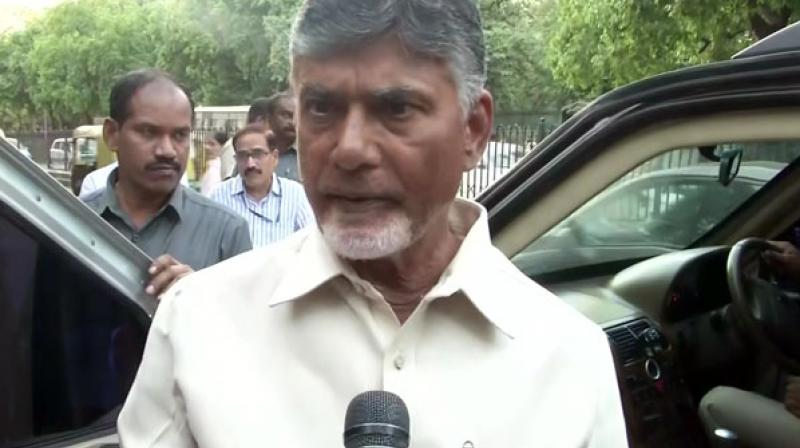 Naidu further slammed the EC for refusing opposition's appeal for 50 per cent voter-verified paper audit trails(VVPATs).  (Photo: ANI)