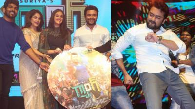 The team of 'Thaanaa Serndha Koottam' held a pre-release event for the film in Chennai on Friday. (Photo: Viral Bhayani)