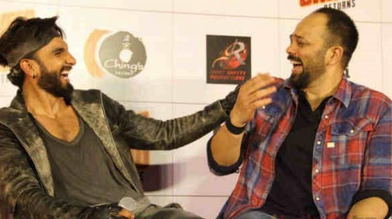 Ranveer Singh and Rohit Shetty.
