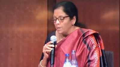 Union Minister for Finance and Corporate Affairs Nirmala Sitharaman presents Union Budget 2019-20. (Photo: File)