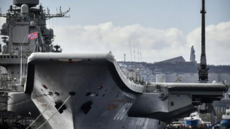 Fallen Crane Leaves '4x5-Meter Hole' in Russian Warship Admiral Kuznetsov