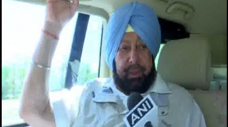 The Chief Minister said that the Congress will surely take an action against Sidhu for his alleged remarks as the party does not believe in indiscipline. (Photo: ANI)