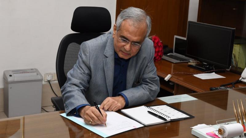 Dr Rajiv Kumar took charge as the new Vice Chairman of Niti Aayog. (Photo: Niti Ayog/Twitter)