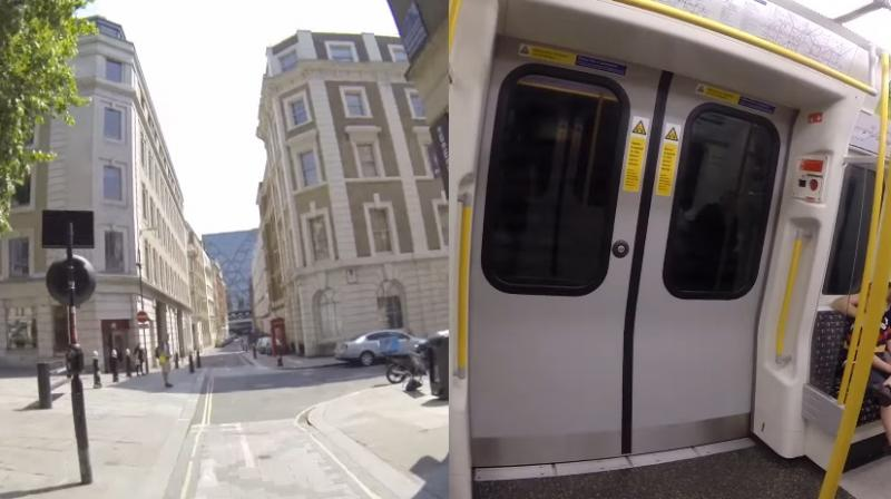 He managed to board the same train (Photo: YouTube)