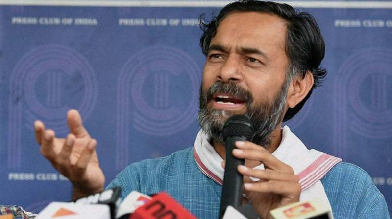 Yogendra Yadav, who started his campaign in Rewari two days ago, claimed that the Centre was targeting his family. (Photo: File/PTI)