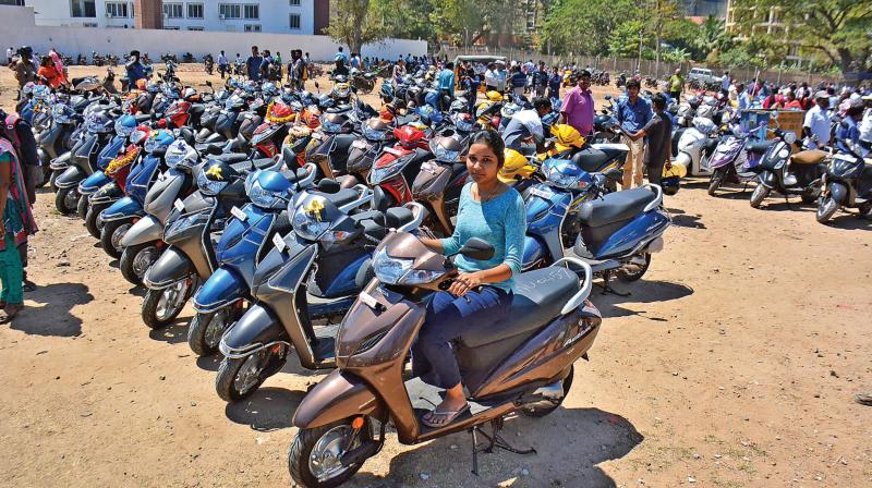 Chennai: PM launches Amma 2-wheeler scheme, bats for women empowerment