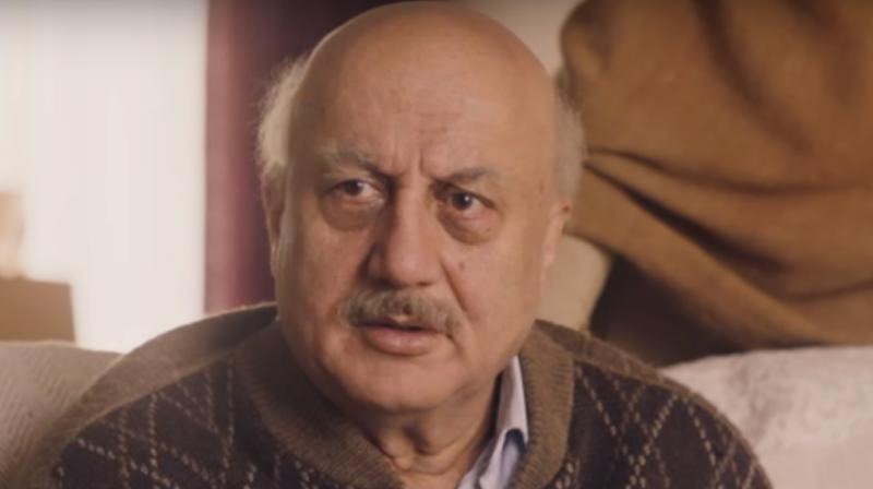 Anupam Kher in a still from 'The Boy With The Topknot'.