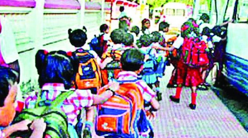 As per the schedule issued by the government, schools are instructed to issue notification for admissions on their school websites on January 2.(Photo: DC)