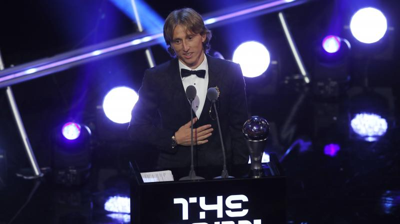 Luka Modric won the Champions League with Real and then played a major role in Croatia's run to the World Cup final where they were beaten by France. (Photo: AP)