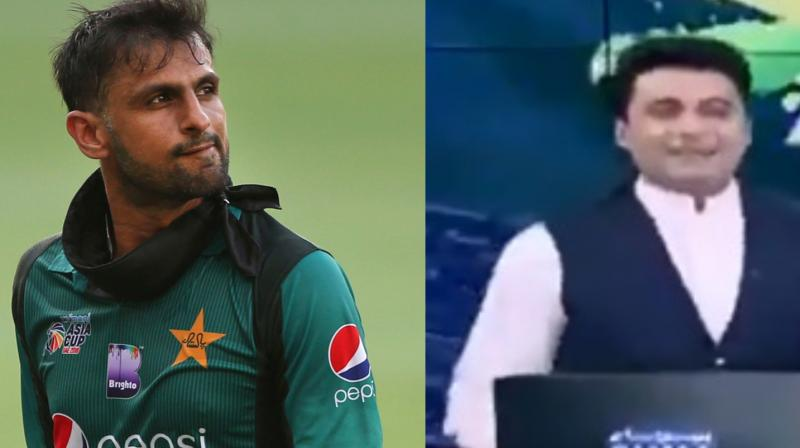 A Pakistani TV journalist flipped the bird live on air as Shoaib Malik helped Pakistan to win a last-over thriller against Afghanistan in the Asia Cup 2018. (Photo: Screengrab / AP)
