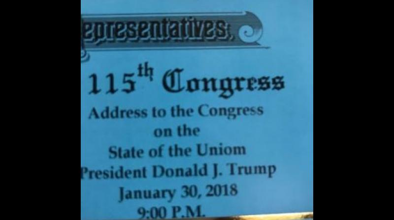 House Invites Guests To Trump's State Of The 'Uniom' Address
