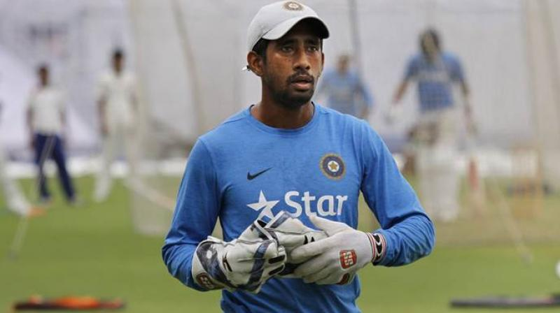 The Australia Test series begins in December 6, which may be a realistic chance of Saha's comeback plans. (Photo: AP)
