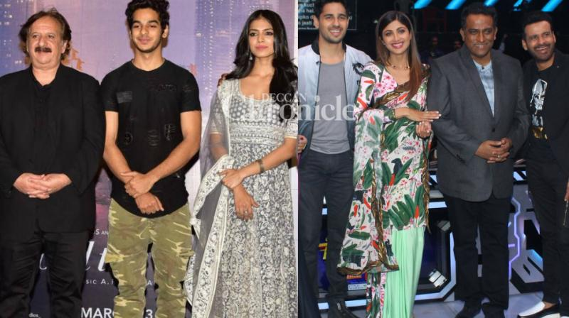 The teams of 'Beyond the Clouds' and 'Aiyaary' were snapped at events related to their films in Mumbai on Monday. (Photo: Viral Bhayani)