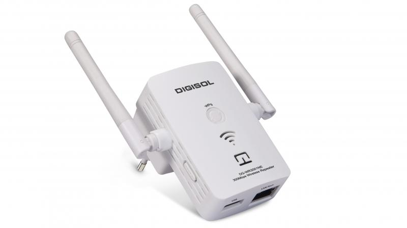 The DIGISOL DG-WR3001NE wireless universal repeater is priced at Rs 1,499.