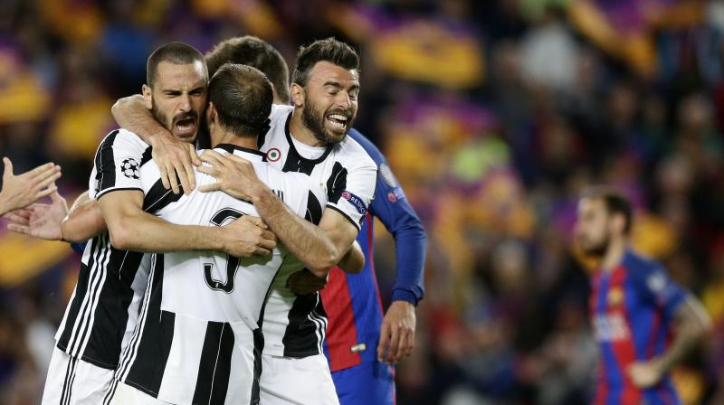 Massimiliano Allegri's side pressed Barca in their own half and limited the supply to the front three. (Photo: AP)